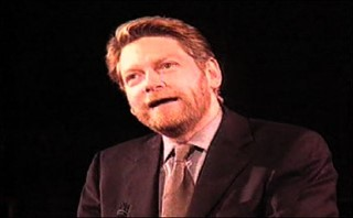 Ken Branagh receiving the Gielgud award