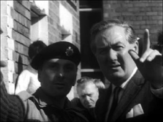 James Callaghan visits riot streets of Belfast