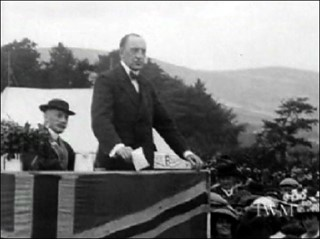 Sir Edward Carson addresses a mass rally in Belfast