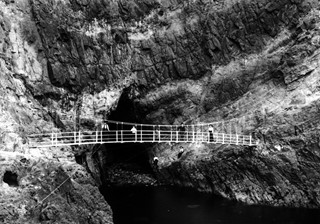 The Gobbins Swinging Bridge