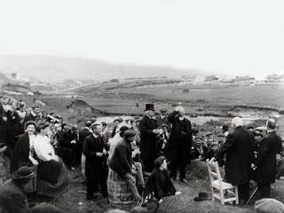 Gathering at Doon Holy Well