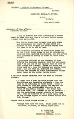 RUC letter regarding IRA rebels