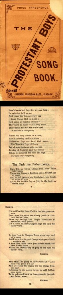 Protestant Boys Song Book and lyrics