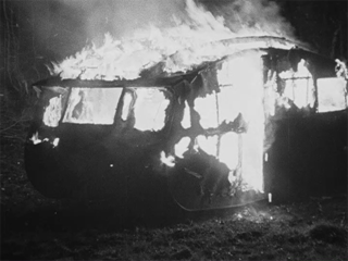 The Burning of a Romany Caravan